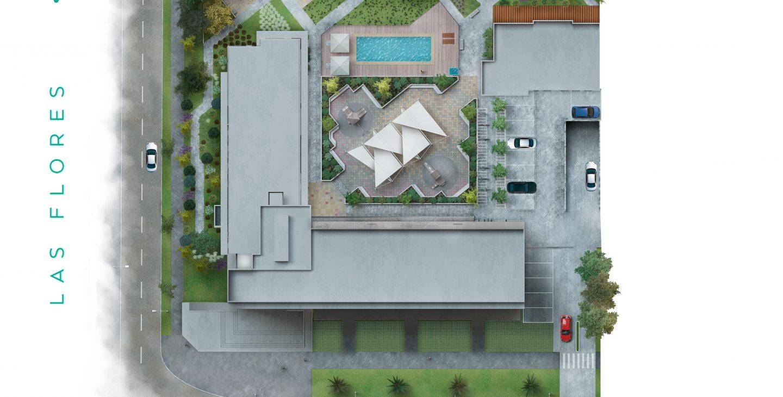 emplazamiento y vista aérea edificio Valdovinos
